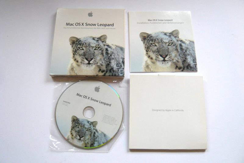 Mac OS X Snow Leopard 10.6.0 Retail Version DVD Multilingual sparepart second sight